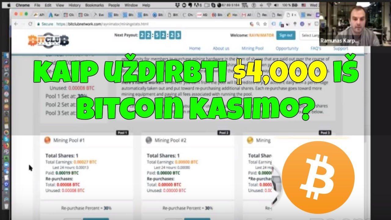 kaip galite užsidirbti bitkoinų uždarbis iš bitkoinų yra tikras