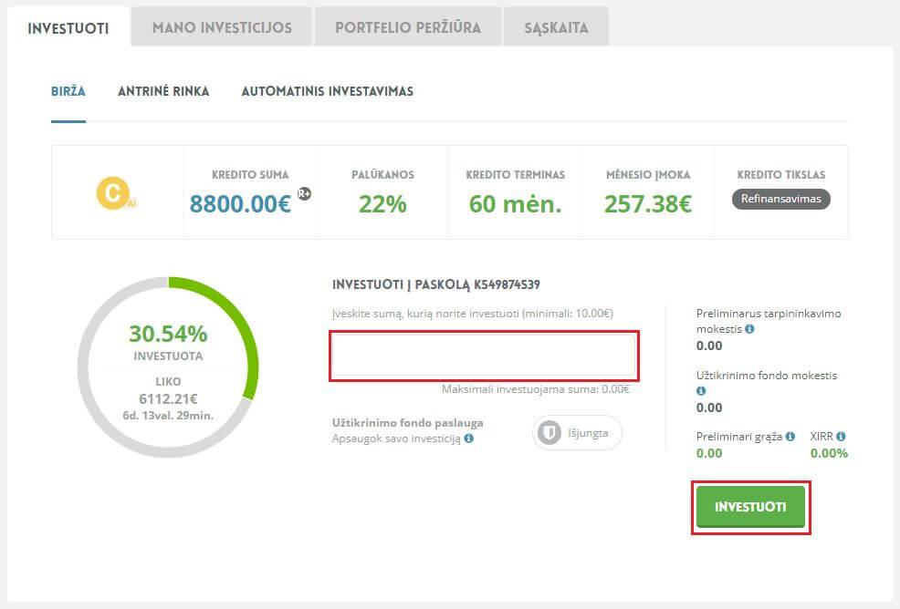 investicijos internete su maža investicijų svetaine