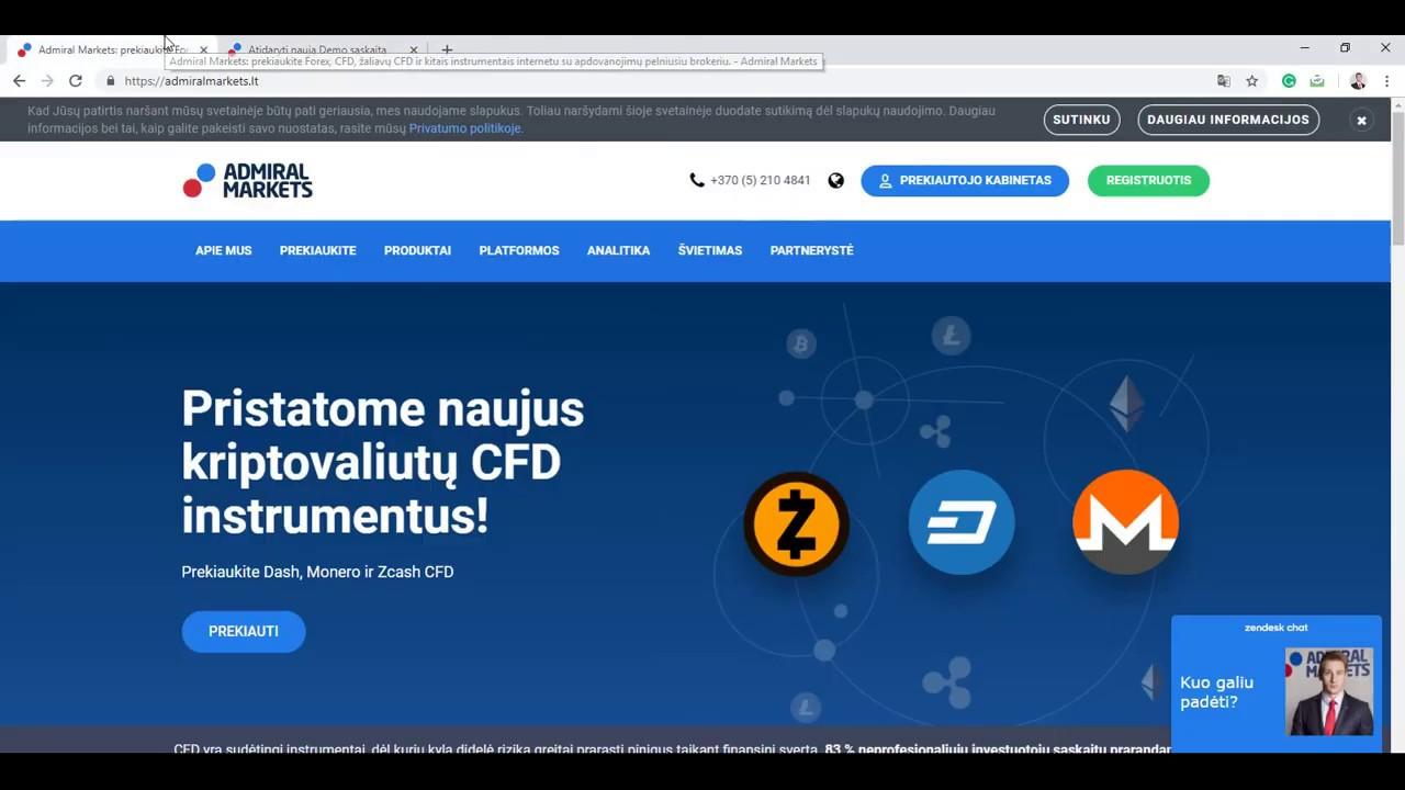 atidarykite naują demonstracinę sąskaitą investicinė platforma yra